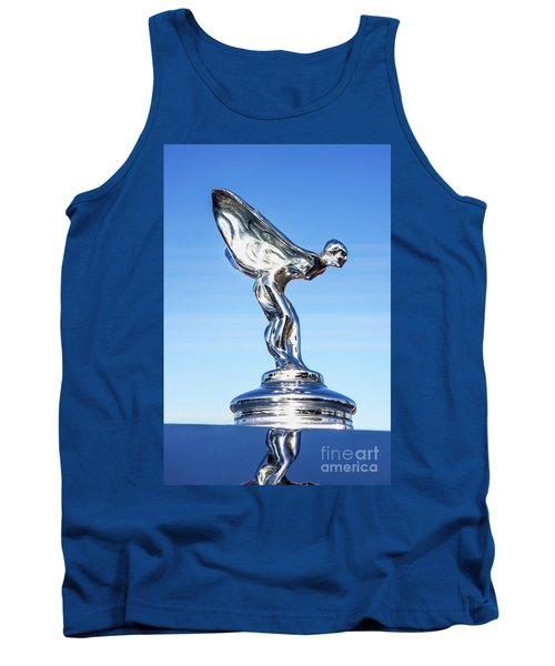 Tank Top featuring the photograph Rolls Royce Hood Ornament by Aloha Art