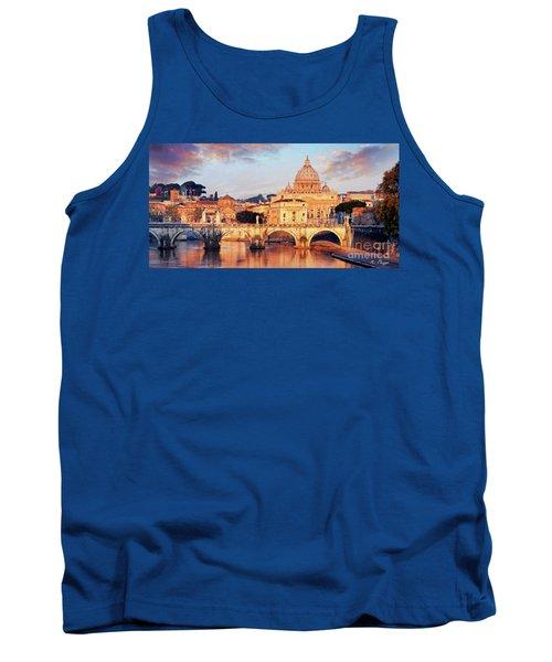 Rome The Eternal City - Saint Peter From The Tiber Tank Top