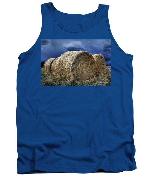 Tank Top featuring the photograph Round Bales by Brad Allen Fine Art