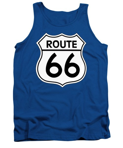 Tank Top featuring the digital art Route 66 Sign by Chuck Staley
