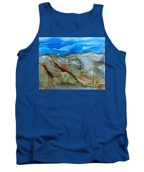 Tank Top featuring the painting Rugged by Pat Purdy