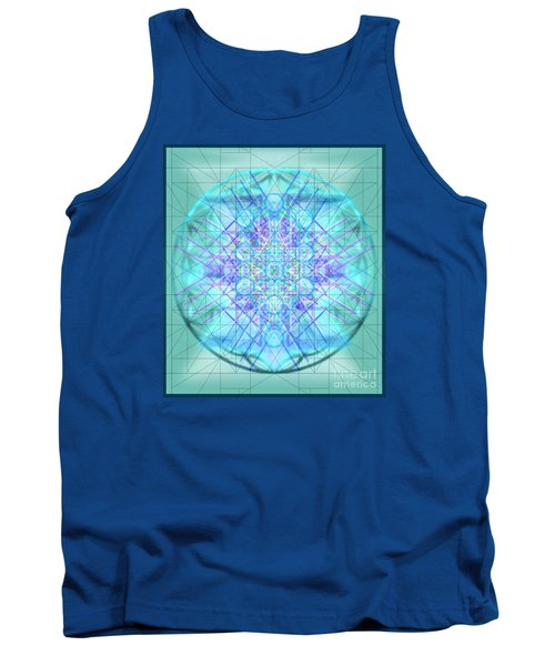 Tank Top featuring the digital art Sacred Symbols Out Of The Void 3b1 by Christopher Pringer