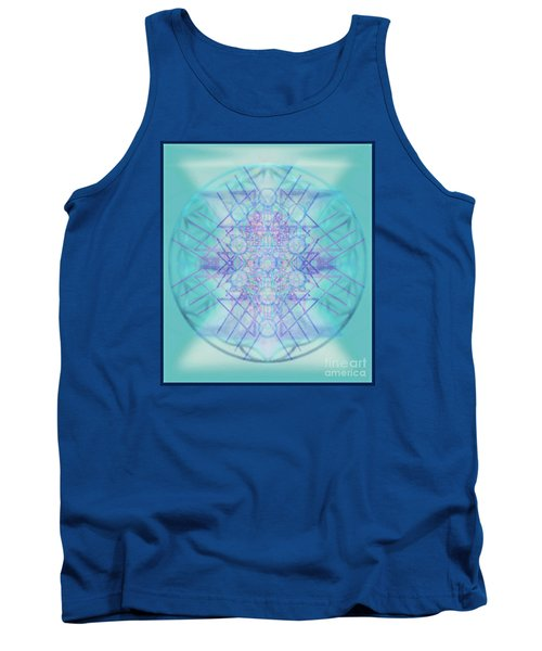 Tank Top featuring the digital art Sacred Symbols Out Of The Void A2b by Christopher Pringer