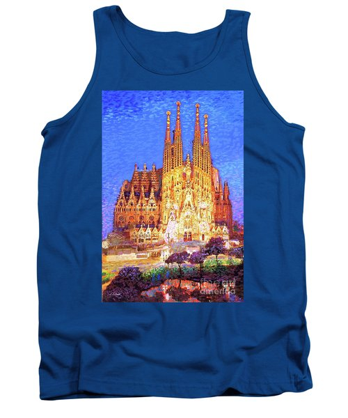 Sagrada Familia At Night Tank Top