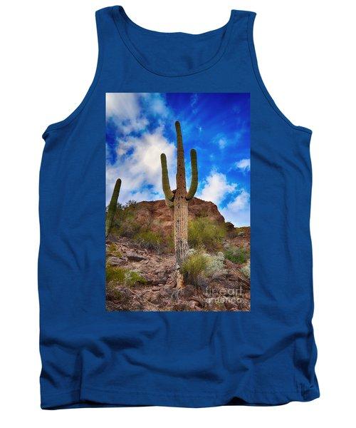 Saguaro Cactus Tank Top by Donna Greene
