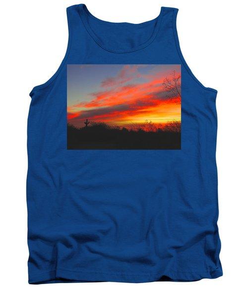 Saguaro Winter Sunrise Tank Top