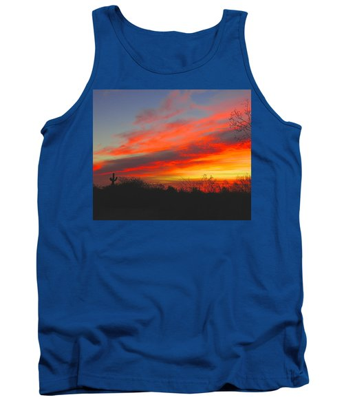 Saguaro Winter Sunrise Tank Top