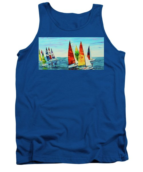 Sailboat Race Tank Top