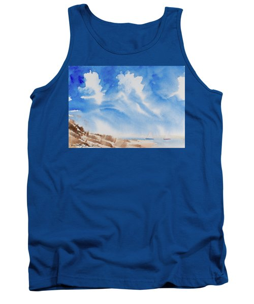 Tank Top featuring the painting Fine Coastal Cruising by Dorothy Darden