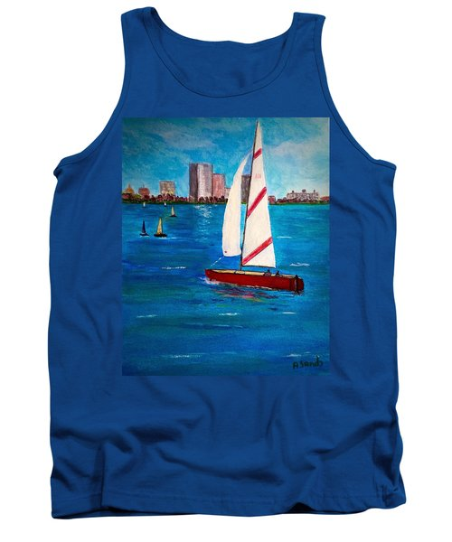 Sailing On The Charles Tank Top