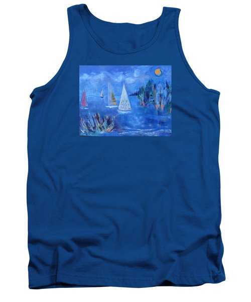 Sails And Sun Tank Top by Betty Pieper