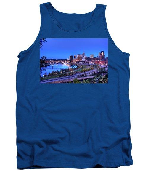 Saint Paul Minnesota Skyline Blue Morning Light Tank Top