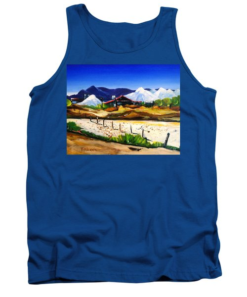 Tank Top featuring the painting Salt Works - Port Alma by Therese Alcorn