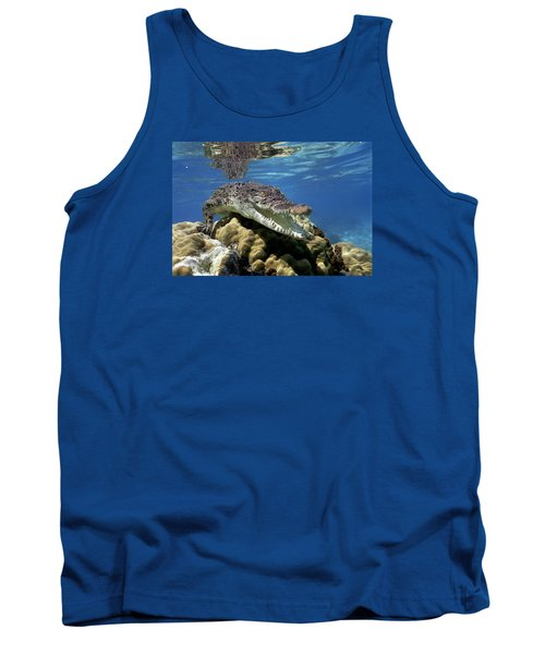 Saltwater Crocodile Smile Tank Top
