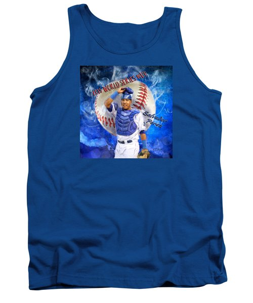 Salvador Perez 2015 World Series Mvp Tank Top by Colleen Taylor