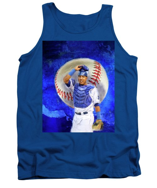 Tank Top featuring the mixed media Salvador Perez-kc Royals by Colleen Taylor