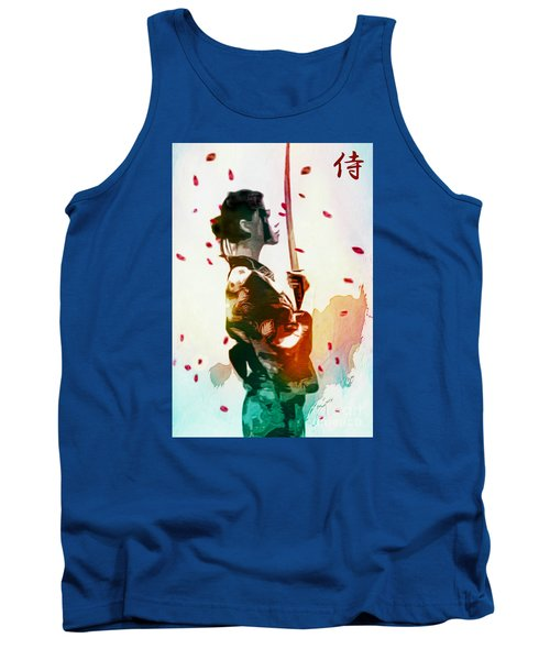 Samurai Girl - Watercolor Painting Tank Top