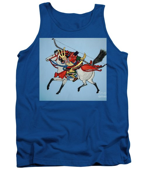 Tank Top featuring the painting Samurai Rider by Stephanie Moore