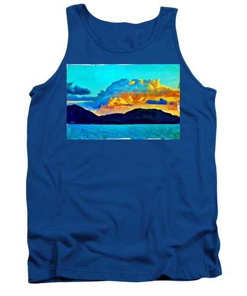 Tank Top featuring the painting San Juan Seascape by Joan Reese