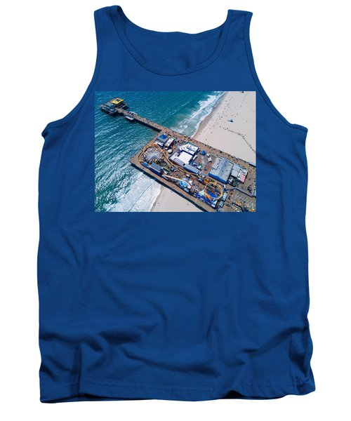 Santa Monica Pier From Above Side Tank Top