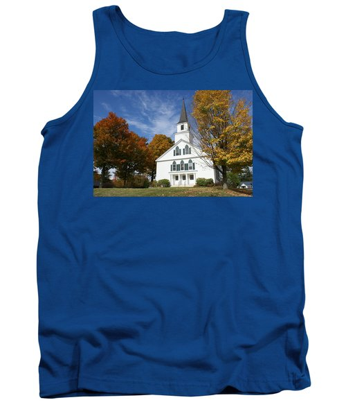 Scenic Church In Autumn Tank Top by Lois Lepisto