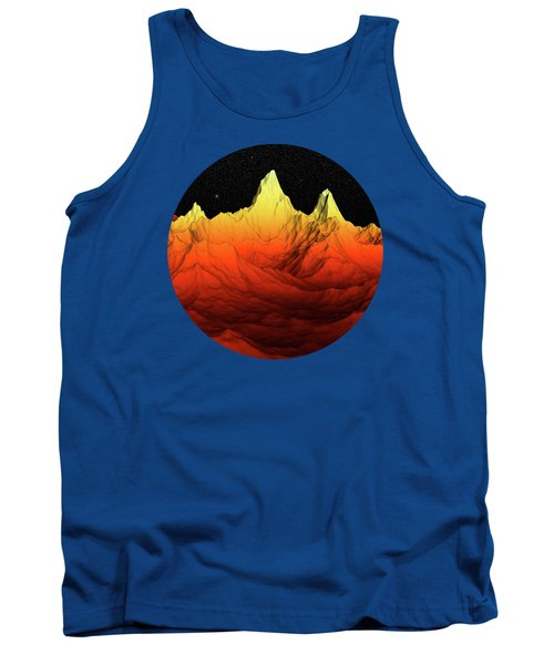 Sci Fi Mountains Landscape Tank Top by Phil Perkins