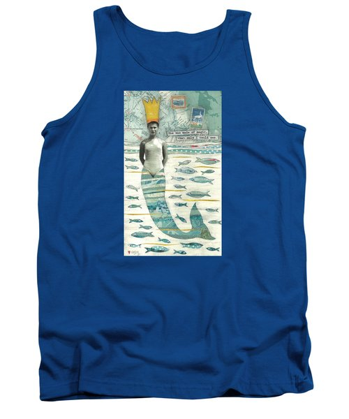 Tank Top featuring the painting Sea Queen by Casey Rasmussen White