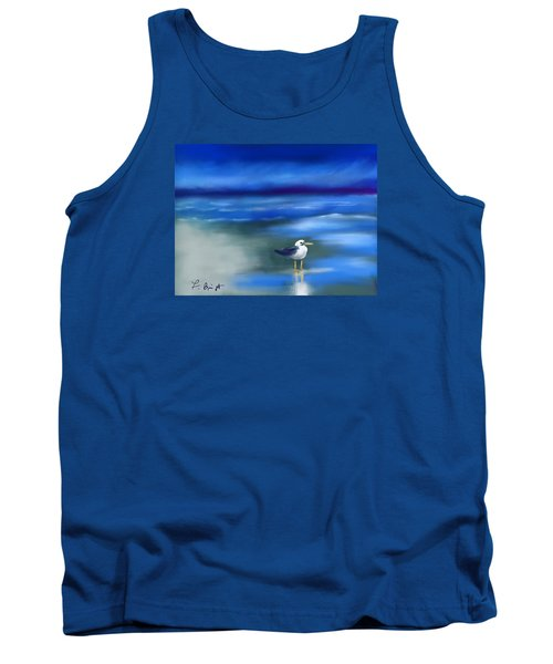 Seagull Standing 2 Tank Top by Frank Bright