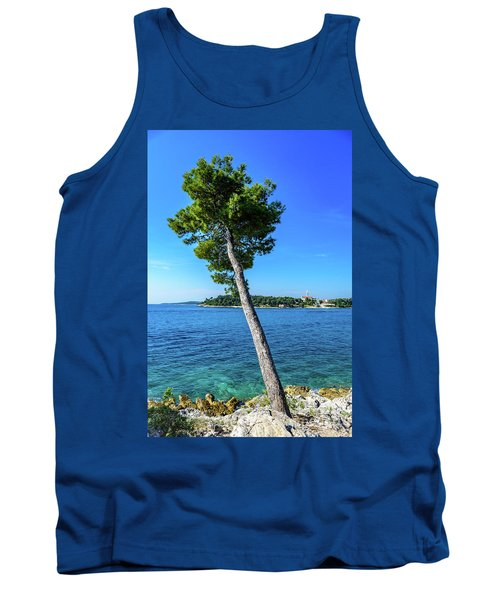 Seaside Leaning Tree In Rovinj, Croatia Tank Top