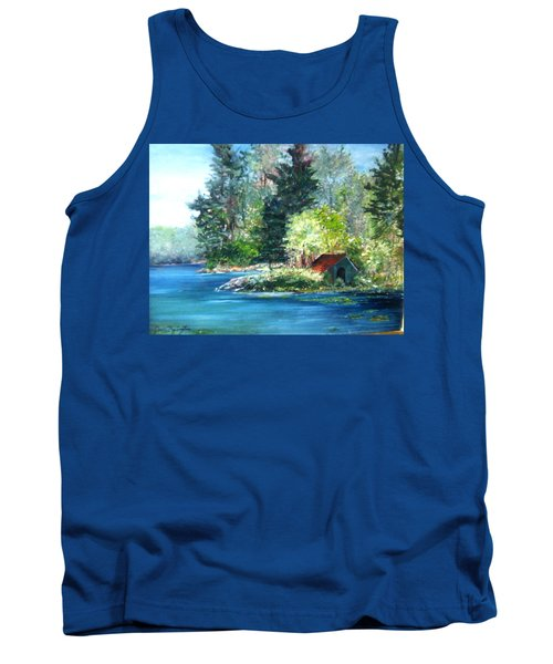 Secluded Boathouse-millsite Lake  Tank Top