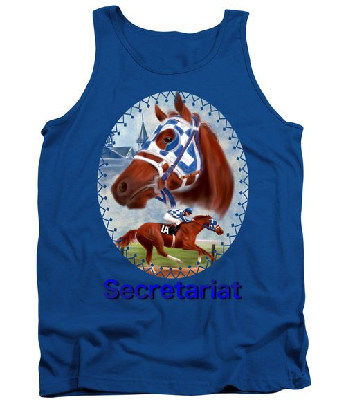 Secretariat Racehorse Portrait Tank Top