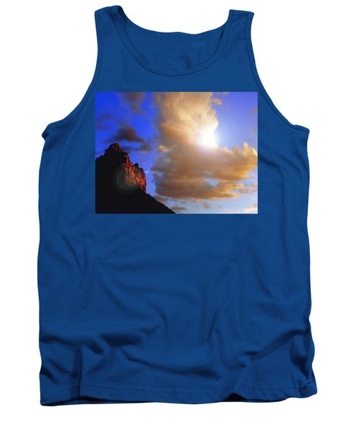 Sedona Mountain Cloud Sun Tank Top