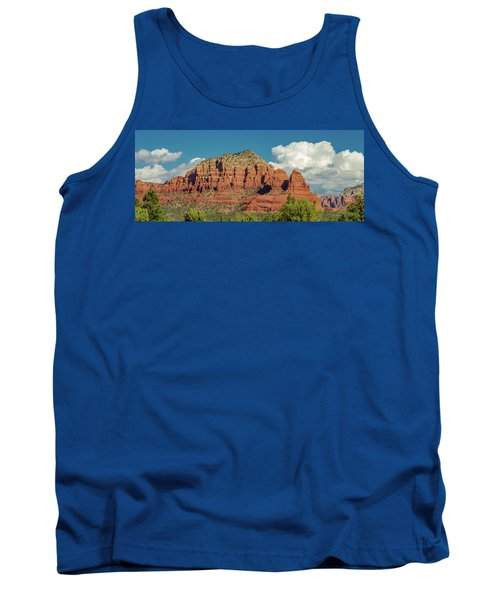 Tank Top featuring the photograph Sedona, Rocks And Clouds by Bill Gallagher