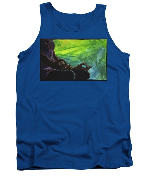 Tank Top featuring the tapestry - textile Serenity by Jo Baner