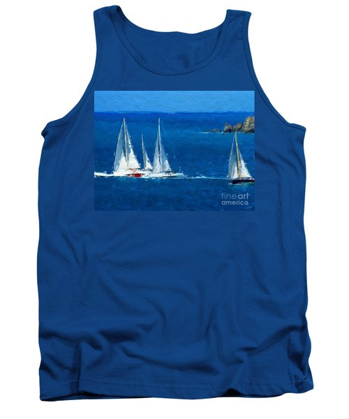Tank Top featuring the digital art Set Sail by Anthony Fishburne