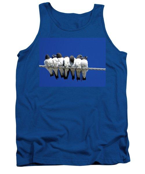 Seven Swallows Sitting Tank Top