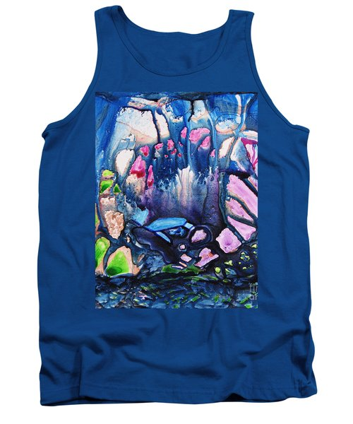 Tank Top featuring the painting Shades Of Tiffany by Joan Hartenstein