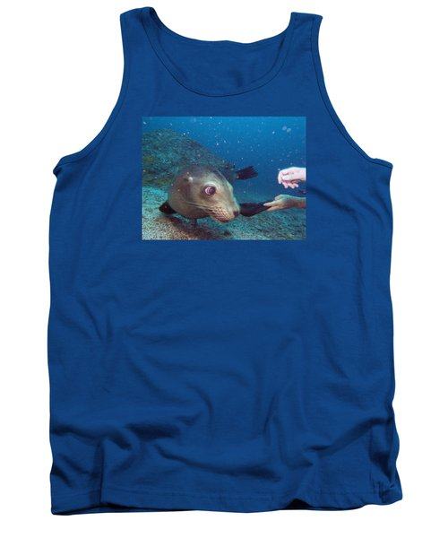 Shaking Hands And Fins Tank Top