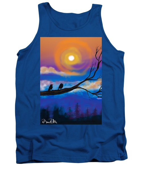 Sharing The Sunset-2 Tank Top by Diana Riukas