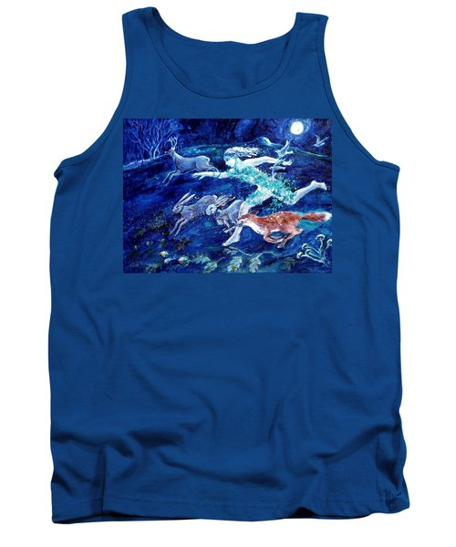 She Ran With The Hunted  Tank Top by Trudi Doyle