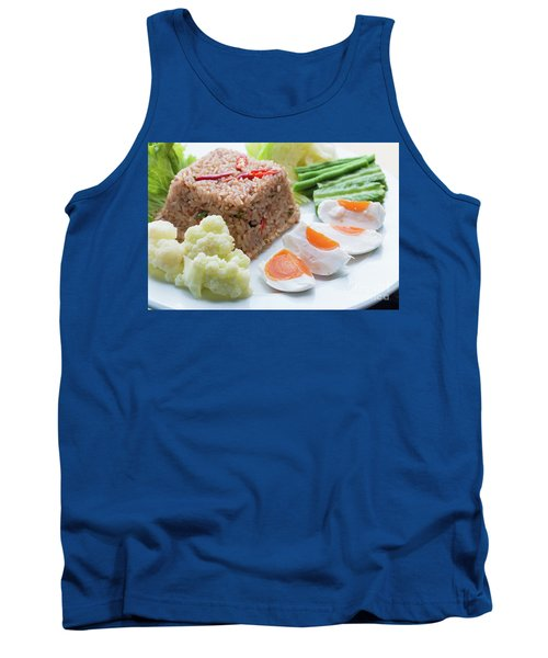 Tank Top featuring the photograph Shrimp Paste Fried Rice by Atiketta Sangasaeng