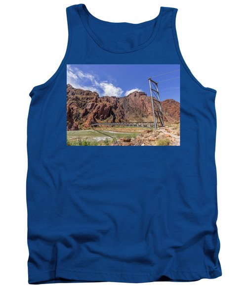 Silver Bridge Over Colorado River - At The Bright Angel Trail Tank Top