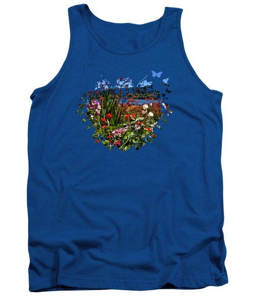 Siuslaw River Floral Tank Top