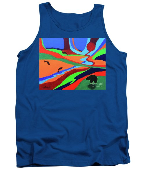 Sky Rivers Tank Top by Jeanette French