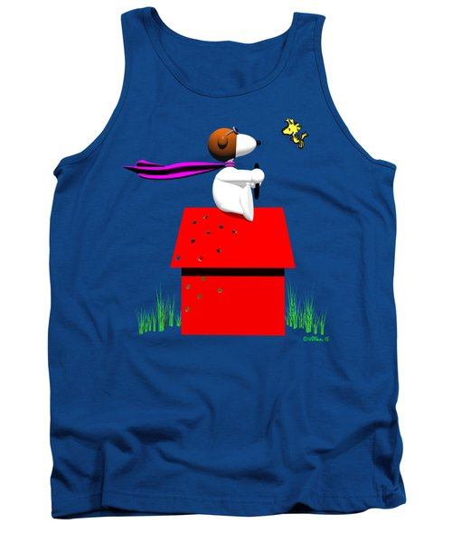 Snoopy Evades The Red Baron Tank Top