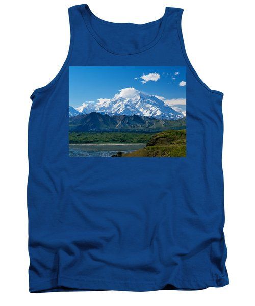 Snow-covered Mount Mckinley, Blue Sky Tank Top