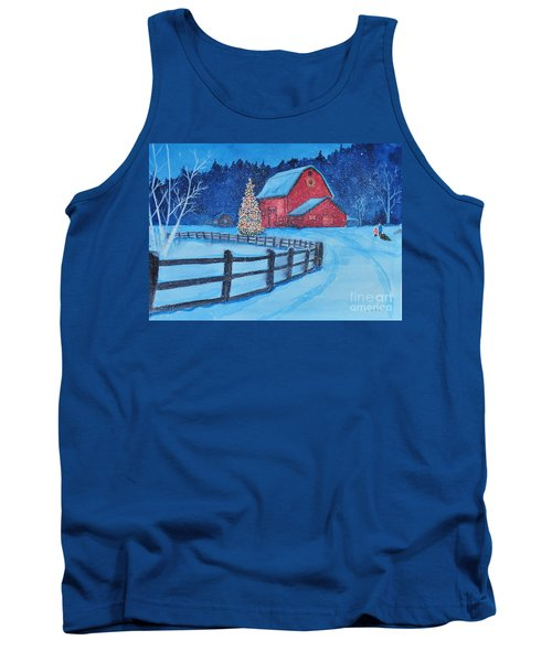 Snow On Christmas Eve Tank Top