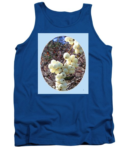 Tank Top featuring the photograph Snowberry Cluster by Will Borden