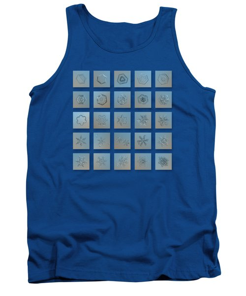 Tank Top featuring the photograph Snowflake Collage - Season 2013 Bright Crystals by Alexey Kljatov