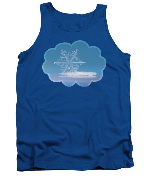 Snowflake Photo - Cloud Number Nine Tank Top by Alexey Kljatov